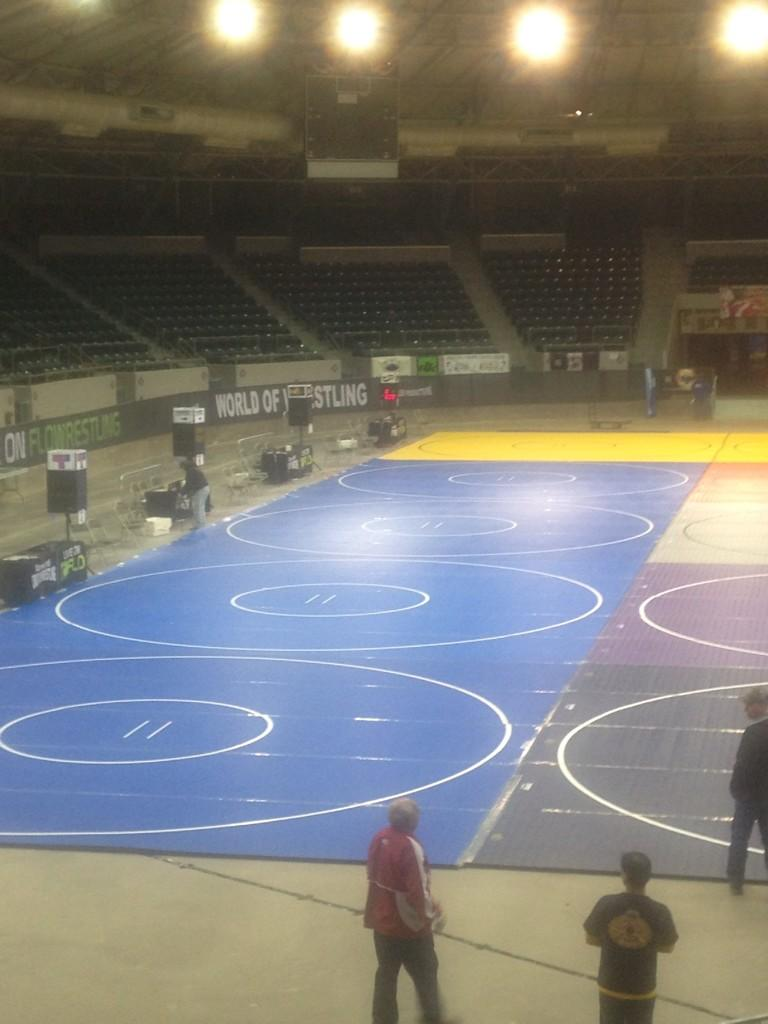 Pic of the Pavilion here in Tulsa, ready for some action this weekend! @flowrestling @rollerwrestling @bluechiptweets http://t.co/SFtHJEZvkF