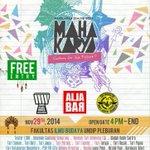 "Pagelaran Seni ""Culture for the Future"" | 29 Nov 2014 | @ FIB UNDIP Pleburan Semarang | Info @MahakaryaFIB #eventSMG http://t.co/ptIOV5xFbt"