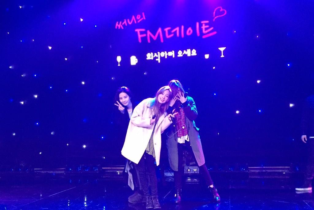 태티서가 MBC 골든마우스 홀에 왔데요.. 왜? 써니의 에펨데이트 공개방송땜!! 예쁘죠?^^ 제 맘속의 프로그램 에펨데이트 홍보중!! http://t.co/BQb4XUNiUy