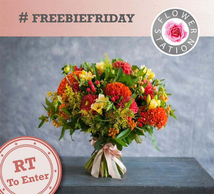 It's #FreebieFriday!   We're giving away our stunning Sunny Days hand-tied bouquet. Just RETWEET and FOLLOW to enter. http://t.co/mtbId9VfzA