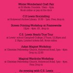 Keep the kids busy tomorrow with our #CSLewisFest workshops! @whatsonNI @LibrariesNI @ArtsCouncilNI @StrandArtsCentr http://t.co/JHAvmk1LKH