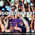 Every time you post, @KState has a chance to win $10K in scholarships from @Allstate! Use #ItsGood2Be #KState! http://t.co/1MJpDqmXoH