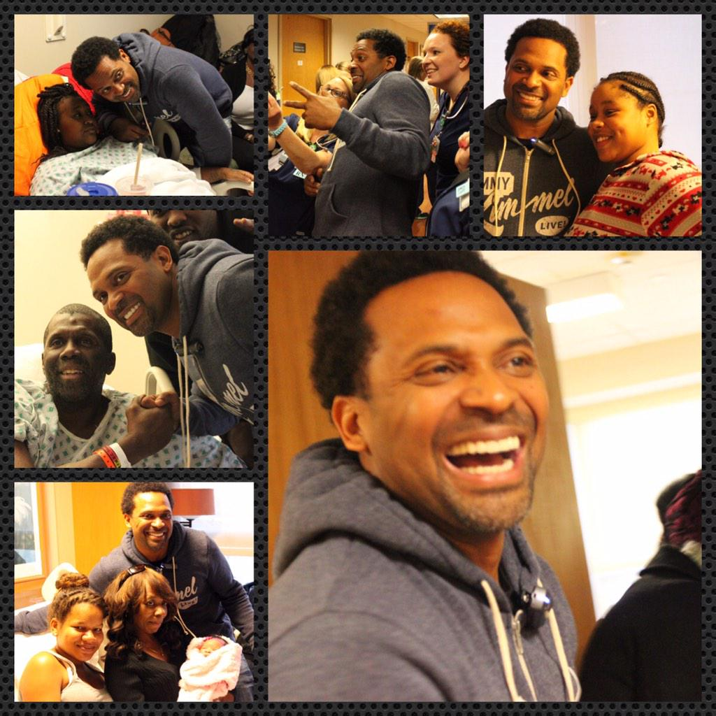 Thank you to @TheRealMikeEpps today. You really brightened the day for our patients. #LaughterIsTheBestMedicine http://t.co/CGDD8RAK6i