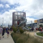 #Auckland Awesome next stage of @WaterfrontAKL Wynyard Quarter Daldy St open. Public space thats great fun for kids. http://t.co/f60qLyPYA2