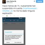 RT @B3scobar:Favor RT de cuenta alterna de @carlitoswayec, denuncia la suspensión de su cuenta. Síganlo! http://t.co/AvQYmqlin9