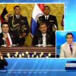 #ENVIVO desde el Palacio de Carondelet Presidentes de Ecuador y Paraguay dialogan con la prensa. http://t.co/0jWSlECgmN