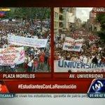 Los #EstudiantesConLaRevolucion celebran su día con una gran movilización en la ciudad de #Caracas #GeneraciónDeOro http://t.co/G1irpU7Jnv