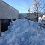 Worker snowblows roof of Garden Gate Health Care Facility in West Seneca http://t.co/ch41RgTYYN