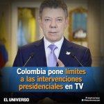 Presidente colombiano podrá difundir solo información trascendental y de interés nacional http://t.co/Z9owNREuuk http://t.co/rYWqYq7oqU