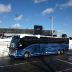 Buffalo Bills players and personnel leave Ralph Wilson Stadium headed for Detroit in their game against the Jets http://t.co/PVXbYzYvtA