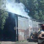 Incendio de vehículo dentro de taller mecánico en Ongolmo 2305 #Concepcion Bomberos trabaja. @EricReyes1981 #cat8 http://t.co/nQOz5MPgDd