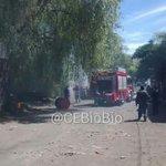 #Concepcion incendio de vehículo en interior de taller mecanico. Se trabaja. Vía @EricReyes1981 #cat8 http://t.co/iT8zxB4Num
