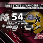 Heading to Davis Wade tomorrow? Bring a jacket. Well start in the mid-50s, but cool through the evening. #HailState http://t.co/OqIZ8xN1NF