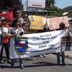 #ParoDocente profesores de Concepción cortan el tránsito en el sector Collao. Foto vía Damián de Macondo http://t.co/q7JeUSexyt