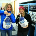 @JustineJudge and @CourtneyKPAX of MT This Morning stopping by with birds for the Guerrilla Turkey Drive. Thanks! http://t.co/UgHQB6kbfp