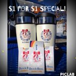 Tonight 7pm-9pm at all #Spokane Dutch Bros is the famous $1 for $1 special on your DB gift card. http://t.co/L98Xo7Rmv4