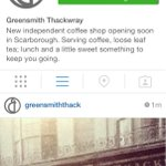 Weve just joined @instagram . Follow us @GreensmithThack #scarborough #coffee #barista http://t.co/DUHVXE7qyP