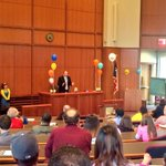 Festivities are underway for Baylor Laws eighth annual Adoption Day! Judge Gary Coley opens todays events. http://t.co/Yp4GpcvWkB