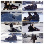 Courtesy of @emilyurbik ...the Bills getting picked up by snowmobiles as they head to Detroit. http://t.co/pox1PWdW5N