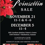 Dont miss the #KState gardens annual Poinsettia Sale today from 4-6 p.m., in the Quinlan Visitor Center. http://t.co/zqxP9TRQKm
