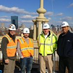 Our Bruce C. Bolling Municipal Building #ProjectManagement team w. beautiful #Boston skyline @DudleySquare http://t.co/GJqVGk3stj
