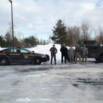 .@nyspolice Troopers from Troop A working with National Guard to drop off Rx for people, take them to get meds. @WGRZ http://t.co/tnDoW2SvMw