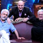 RT @Hemant1225: @AnupamPkher Three Legends of Bollywood on one Stage..Rarely Found this....Missing @SirPareshRawal in this.