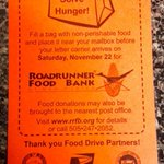 The @USPS Letter Carriers Food Drive benefiting @RoadrunnerFdBnk is this Saturday, 11/22, in #Albuquerque! #donate http://t.co/977iaqtp68