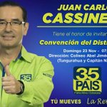 Todo nuestro apoyo a @JCCassinelli para Director del Distrito 3 este domingo, candidato de lujo para @Guayas35PAIS http://t.co/BvRRCExOWo
