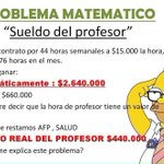 Problema Matemático... #ParoDocente http://t.co/k4Q4i0FqKx