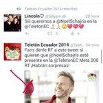 Fans de @NoelSchajris den RT al tw de @TeletonEC Meta 200 RT para que Noel venga ????????❤????????@teclasecuador http://t.co/dsUoJuevo0