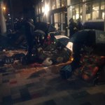 Its throwing it down @BigTeesSleepout but people are sticking with it! @lovembro @TeesTweets @alibrownlee http://t.co/E9S3eQVlxB
