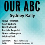Sydney rally in support of #OurABC today! All-star cast! Town Hall, 12:30! http://t.co/ZzEfxiRD5N