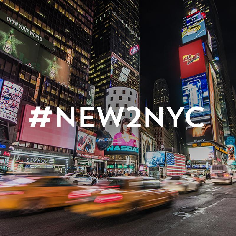 We're new to NYC & need advice on how to fit in. Help us & we may feature it on our Times Square billboards! #New2NYC http://t.co/Qy5FNHzi8Y