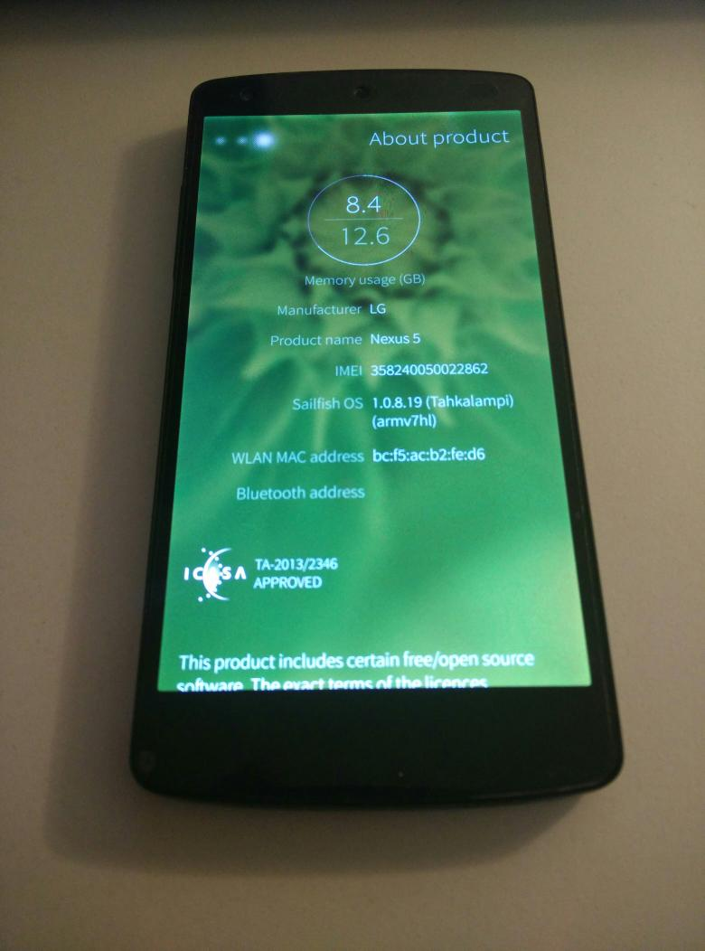 And again... #Jolla #SailfishOS on #Nexus5 http://t.co/kpp3Xgcz5B