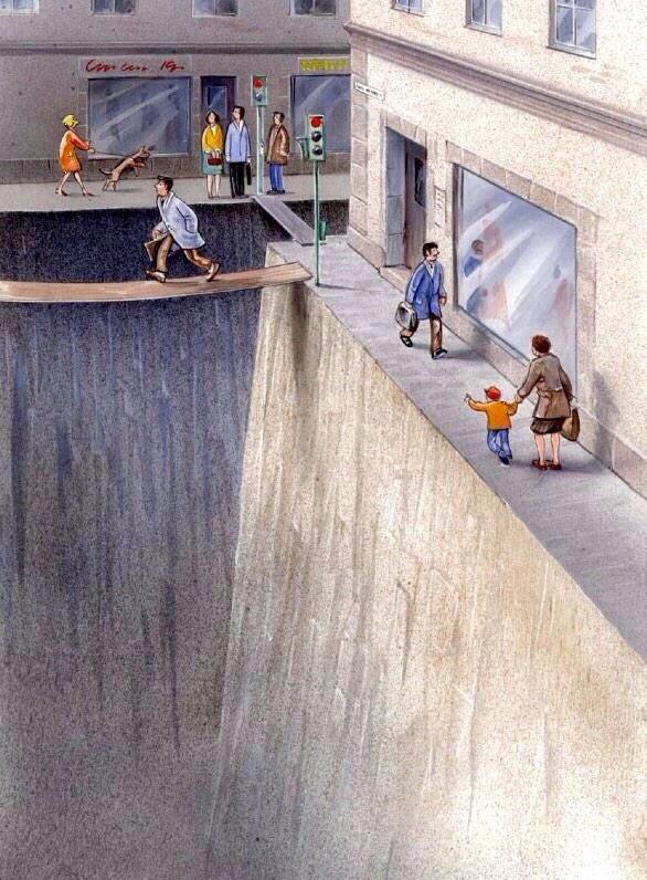 A void, the road. RT @DewanMKarim: Brilliant visual illustration of how much #publicspace we have given to #cars http://t.co/jHjBSrXu9U