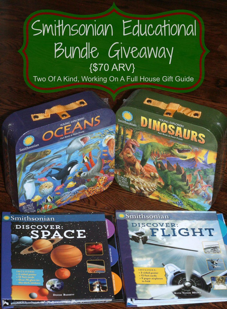 New #HolidayGiftGuide #giveaway - #Smithsonian #Educational Bundle $70 ARV http://t.co/KixrNRpUlk #2014HGG #Holidays http://t.co/RhnOLGPxjP
