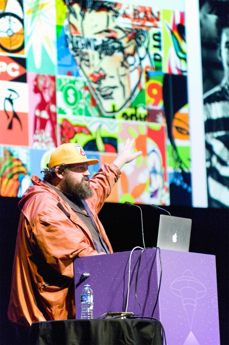 Notes from the #rgdDT main stage http://t.co/lkyAcaARPt Feat. @Draplin @mr_turley @espiekermann @jessicawalsh + more http://t.co/SCT5vWRYvY