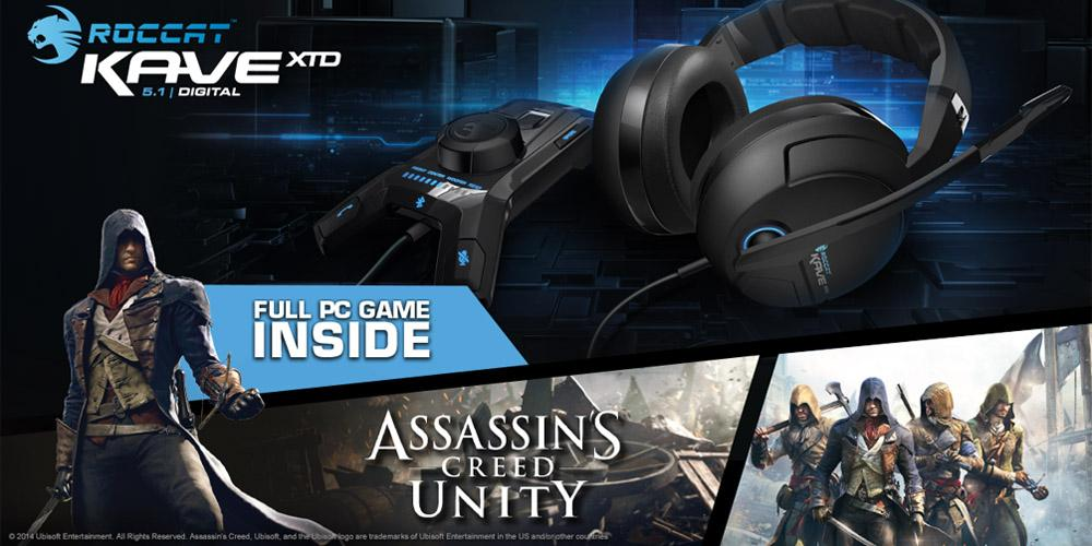 For the chance to win a @ROCCAT Kave XTD 5.1 Digital headset incl. #ACUnity Retweet this tweet! Ends 17/11 5pm. http://t.co/NEC97IFeS4