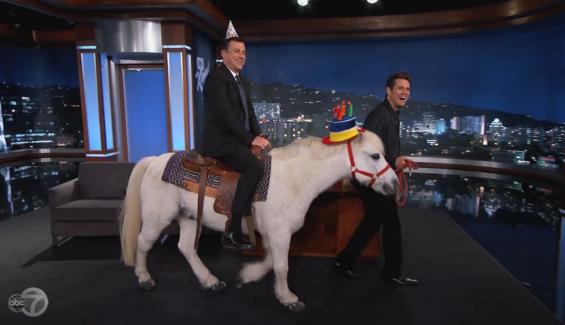 Jim Carrey Horses Around on 'Jimmy Kimmel Live!'