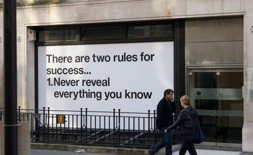 Two rules for success: http://t.co/HyN0vlWqWT