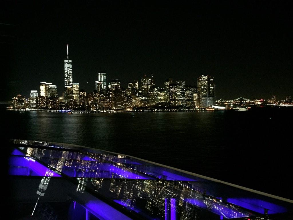 Iconic! Passing #NYC on @royalcaribbean #QuantumoftheSeas #cruise. Amazing! #iloveNY http://t.co/PIwk3k5NQ6
