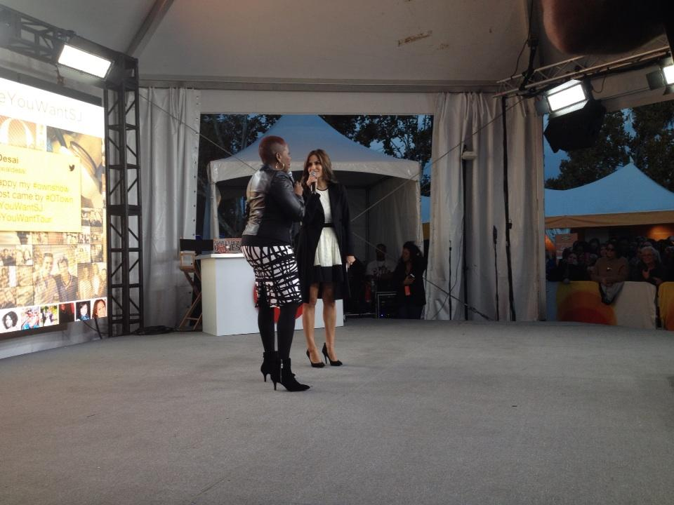 @iyanlavanzant and @amirawaldesai closing down the o town stage! Doors open soon #lifeyouwantsj http://t.co/NCoK1wC4gM