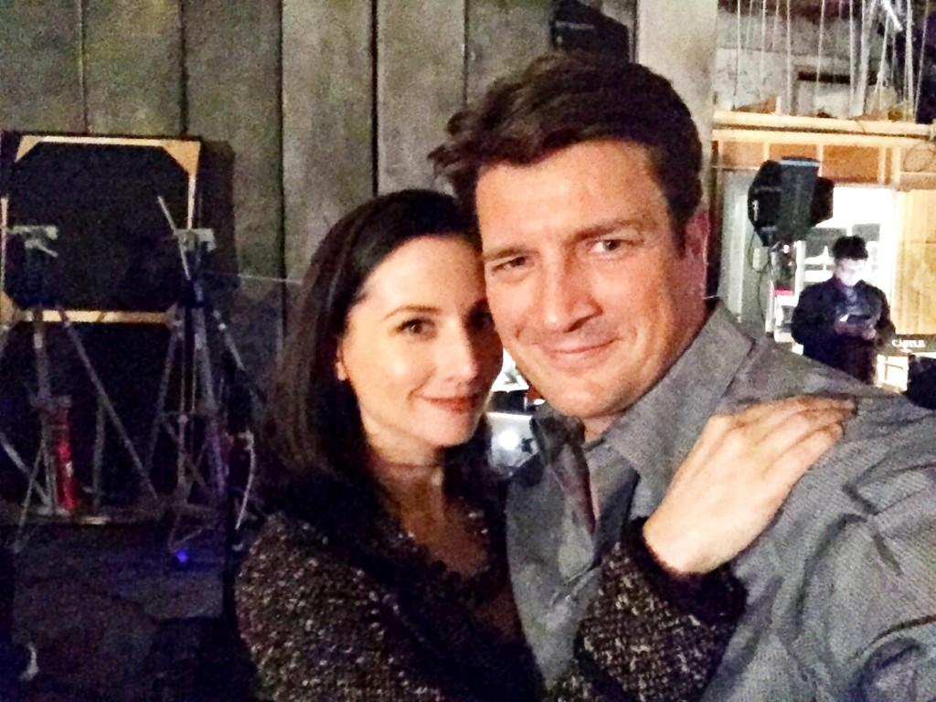 Me and my buddy @NathanFillion the sweetest guy ever!!! Such a treat to work with such an amazing actor and friend! http://t.co/6bYfwNvMRC