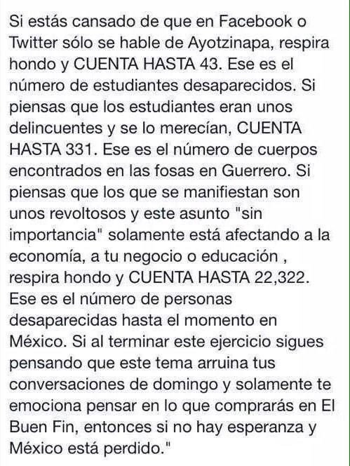 Espero tu no tengas que contar nada... #AccionGlobalporAyotzinapa http://t.co/Fh4rMejMRa