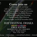 RT @jameelsjam: Hi #Bangladesh & fans of @ShashiTharoor don't miss #HayDhaka2014