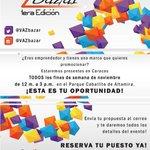 BAZAR @VAZbazar * 22-23 y 29-30 de noviembre* Pqe. Caballito, Altamira, #Caracas #disenosvenezolanos #RegaloNavidad http://t.co/XLkkn4YUaL