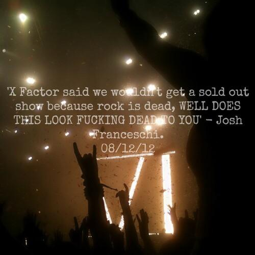 Love this #XFactor quote from @joshmeatsix #RockIsNotDead http://t.co/INTFdC77dV