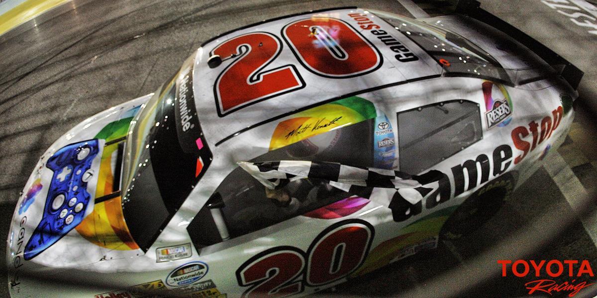 "WINNER! @ToyotaRacing @mattkenseth #RockCandyTeam20 http://t.co/FMCFgyZT4m"""