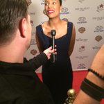 """@VenetianVegas: @aishatyler of The Talk on the carpet for @LiliClaireFdtn #LiveYourPassion event."